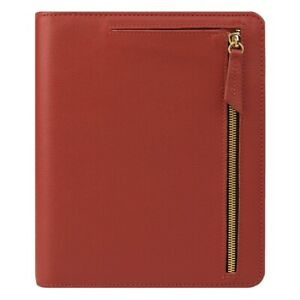 Rare Franklin Covey Kenzie Open Planner Binder Compact Spice Leather Pretty