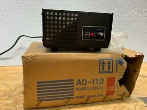 Vintage Sharp Electronics Power Supply Transformer Operated Unit Ad 112 Japan