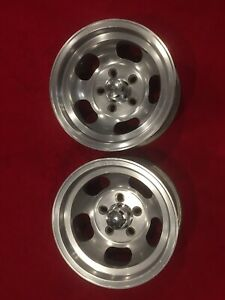 Cragar Mag Master Vintage Aluminum Slot Deep Dish Wheels With Center Caps Rims