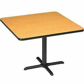 Interion Restaurant Lunchroom Square Counter Height Table 42 lx42 wx36 h Oak