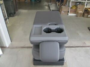 2017 2020 Ford F250 F350 F450 Sd Center Console Jump Seat Charcoal Gray Cloth