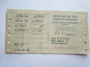 1941 Buick Special Barn Find Historical Document
