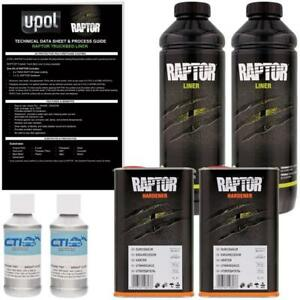 Upol Raptor Galaxy Silver Urethane Spray on Truck Bed Liner Texture Coating 2l