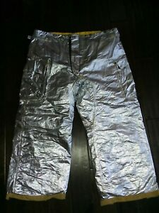 Nos Morning Pride 44 Waist Firefighter Proximity Turnout Gear Aluminized Pants