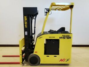 2016 Hyster E40hsd3 18 Electric Quad Mast Narrow Aisle Lift Forklift Yale