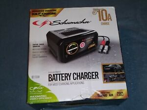 Schumacher Sc1282 Electric 10 amp Metal Case 12 Volt Battery Charger Maintainer