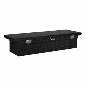 Uws Low Profile Crossover 72 Black Tool Box For Dodge Ram Ford Super Duty Truck