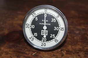 Vintage Tachometer Stewart Warner sw Rpm In Hundreds 4000 Nice Condition