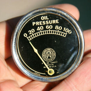 Rochester Vintage 100 Lbs Oil Pressure Gauge Curved Glass