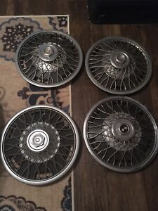 Vintage Lot 4 Chevy Impala 15 Wire Spoked Wheel Cover Hubcap