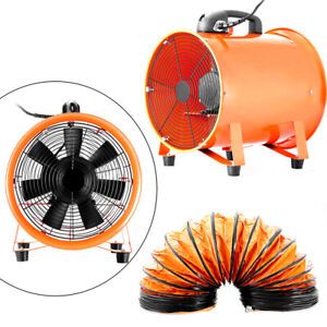 12 300mm Industrial Extractor Fan Blower 5m Duct Hose Underground Ventilation