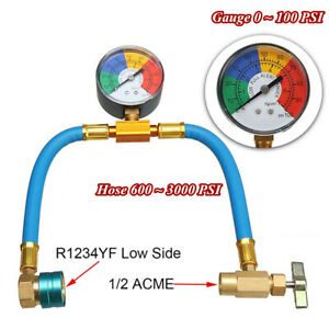R1234yf Refrigerant Charge Hose With Gauge Recharge Refrigerant Ac Conditioning