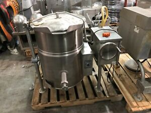 Cleveland Kgl 25 t 25 Gallon Tilting Jacketed Kettle Commercial Used