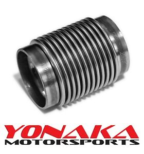 Yonaka 2 5 Exhaust Bellow Flex Joint Id Slip Fit T304 Polished Stainless Steel
