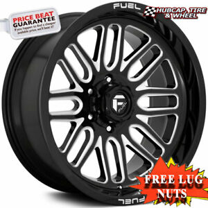 Fuel Off road D662 Ignite Gloss Black Milled 20 x10 Wheels Rims set Of 4