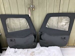 Jeep Wrangler Half Doors Yj Cj7 Factory Steel Door Oem Black W New Uppers