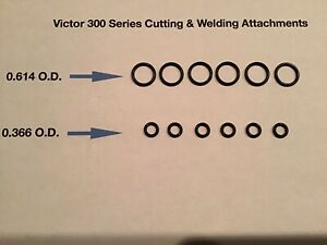 6 Sets Of Victor Cutting Torch Welding Tip O rings Journeyman Set 300 Handle