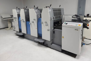 Ryobi 524he 4 color 20 Printing Press Plate Loaders Console 2003 Rmgt Gx Ge