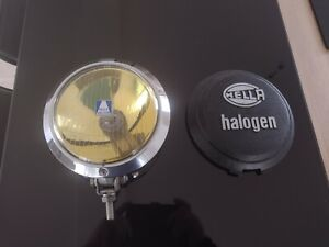 Vintage Chrome Germany Nos Hella Yellow Fog Lamp Light With Cover No Bosch Cibie