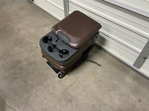 2009 2018 Dodge Ram 1500 2500 3500 Center Jump Seat Console Brown Leather