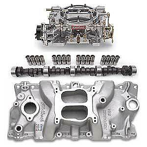 Edelbrock 2101pk Performer Power Package Intake Manifold Carburetor And Camshaf