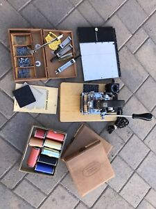 Kingsley Embossing Hot Stamp Machine M 50 With Extras