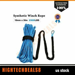Synthetic Winch Line Cable Rope 23000lb 2 5 X 100 Off Road Atv Utv Blue New