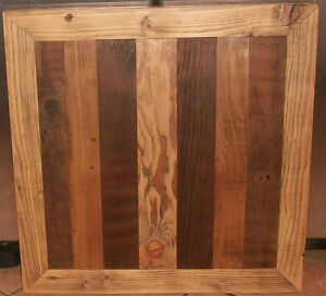 5pc Reclaimed Barn Wood Table Top 24x24 Rustic Restaurant Bistro Bar Deli X5