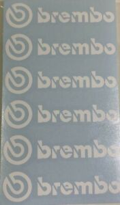 6 Brembo Decal Sticker Vinyl Caliper Brake Heat Resistant 3 5 16 U Choose Color