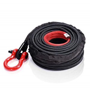 Orcish Synthetic Winch Rope 3 8 X 100ft 23809lbs Dyneema Winch Cable Line With