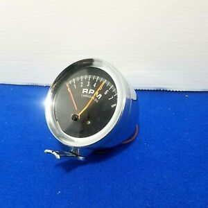 1960s Vintage Tachometer Accurate Instruments Hot Rod Muscle Car Accessory Tach