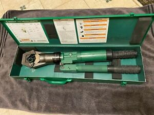Greenlee 1990 Dieless Hydraulic Cable Crimper Automatic Burndy