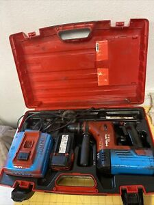 Hilti Te 6 a a Hammer Drill W 2 Battery Charger Case And Bits cc16a