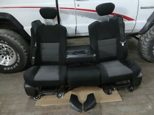 99 07 Ford F350 Super Duty Factory Reclining Front Bucket Seats Center Jump