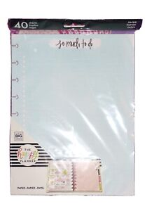 new Create 365 Mambi The Happy Planner Classic Watercolor Note Filler Paper