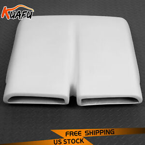 Hood Scoop Cap For 1970 76 Plymouth Duster Dual Snorkel White Painted Fiberglass