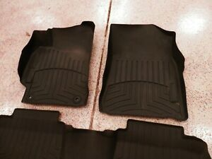 2012 2013 2014 Toyota Camry Weathertech Floor Liner Mats Front Rear Set Black