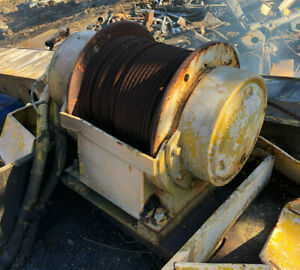 Gearmatic Winch Hydraulic Model 11 Sc Used Good Working Condition