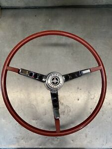 1965 66 Red Mustang Steering Wheel With Horn Assembly New