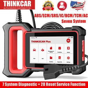 Thinkscan Plus Car Obd2 Scanner Auto Diagnostic Tool 7 System Srs Abs Tpms Dpf