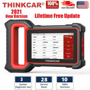 Thinkscan Plus Car Obd2 Diagnostic Scanner 3 System Srs Abs Tpms Oil Code Reader