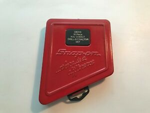 Snap On Tools Drill Extractor Red Metal Box Only Dex10 Nice