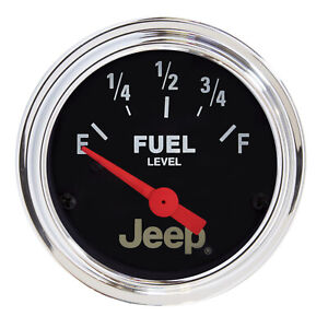 Autometer Gauge Fuel Level 2 1 16 0oe To 90of Elec Jeep