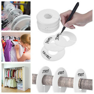 Diy Clothing Size Dividers Round Hangers Garment Tags Clothing Accessories Us