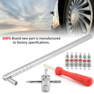 9pcs Valve Stem Installation Puller Tool 6 2inch Car Tire Plug Core Remover Kit