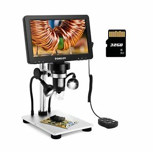 Tomlov 7 Lcd Digital Microscope With 32gb Sd Card 1200x Magnification 1080p