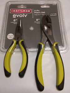 Craftsman 10046 2 Piece Evolv 8 Slip Joint 6 Long Nose Plier Set ts 420