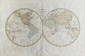 Original Wilkinson World Map 1822