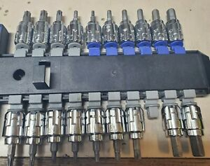 Kobalt 19 Piece 3 8 Drive Pass Through Hex Torx Bit Socket Set Sae Metric