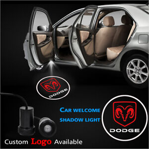 2x For Dodge Logo Car Door Welcome Courtesy Projector Ghost Shadow Led Lights